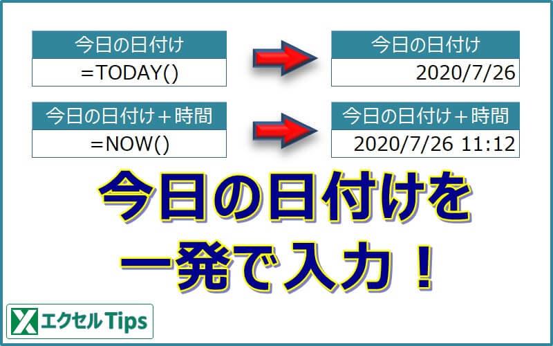 【エクセル】今日の日付を一発で入力する!