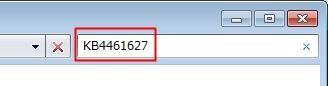 KB4461627のパッチをアンインストールする方法