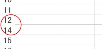 エクセル2013の非表示列