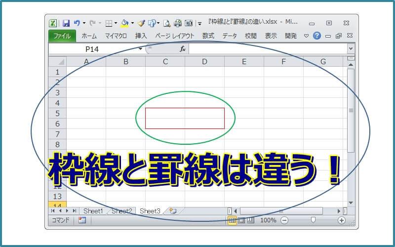 エクセルの枠線と罫線の違いがわかると失敗しません!