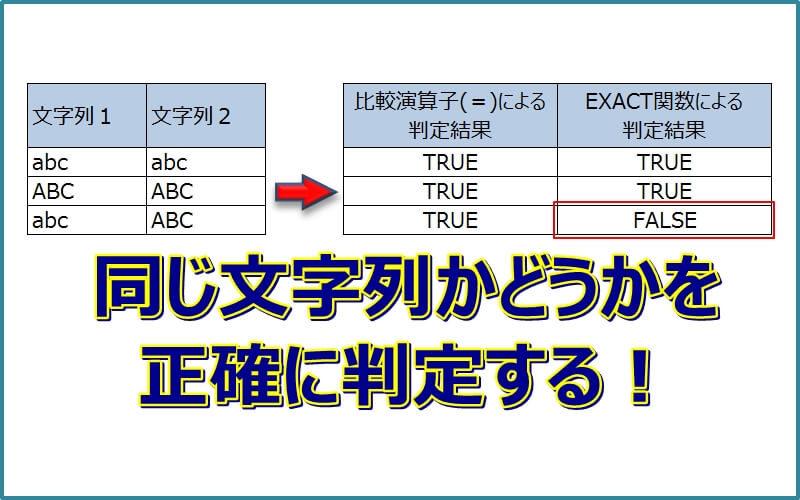 エクセルで『同じ文字列か?』の判定を正確にする方法
