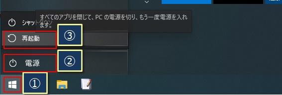 Windowsを再起動する手順